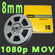 WE TRANSFER YOUR 8MM HOME MOVIE REEL TO REEL FILMS TO 1920 X 1080p VIDEO MOV