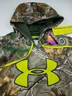 Under Armour Camo Scent Control Cold Gear Realtree Xtra Hoodie Fleece Pullover