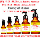 *100% PURE ORGANIC EMU OIL 6X Refined From Australia 1 2 4 8 16 Oz