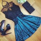 Charm Women Sleeveless Splicing Lace Elegant Party Clubbing Mini Dress SC 21