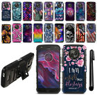 "For Motorola Moto X4/ X 4th Gen 2017 5.2"" Hybrid Duty Kickstand Case Cover + Pen"