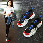 Womens Lace Up Comfort Sport Athletic Shoes Splice Suede College Trainers 2018
