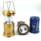 3W Rechargeable Solar LED Flashlight Power Camping Tent Light Torch Lantern Lamp