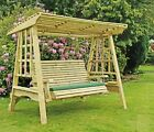 Superb Wooden Garden Swing Adult Swing Seat Hammock Pressure Treated Solid Swing