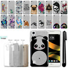 For LG Tribute HD LS676 X Style L56VL Sparkling Silver Silicone Case Cover + Pen