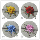 1pc Embroidered 3D Poney Flower DIY Applique Patch 4 Colors to Choose 8125j E