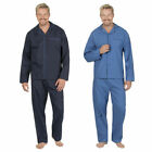JASON JONES Men's Plain Pajama Set Button Up Shirt & PJ Bottoms Sizes S-2XL
