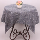Japanese Style Tablecloth Dark Blue Cotton Linen Restaurant Table Cloth Covers