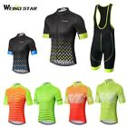 Cycling Jersey Men Weimostar Short Sleeve Breathable Clothing wear Bib Shorts