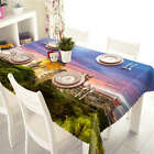 House On Horizon 3D Tablecloth Table cover Cloth Rectangle Wedding Party Banquet