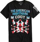 NJPW American Nightmare Cody Rhodes Bullet Club Black T-Shirt New with Tags