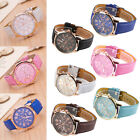 Ladies Women Mens Girls Analog Quartz Wrist Watches Fashion Leather Strap