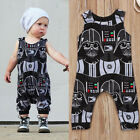 UK Newborn Kids Baby Boys Star Wars Sleeveless Romper Jumpsuit Clothes Outfits