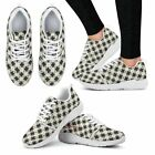B&W Checkerboard Athletic Sneakers