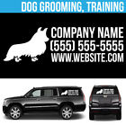 Dog Grooming Training Business Logo Vinyl Decal Personalized Advertising - 3 pcs