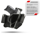 """Winthrop Holsters """"Covert"""" IWB Dual Snap Black Leather Holster"""
