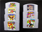 For 64 Game Mario Party Smash Bros Video Game Cartridge Console Card US