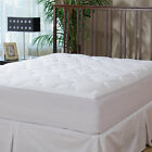 Micropuff Down Alternative Mattress Pad Quilted Fitted Microfiber Matress Topper image
