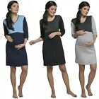 Zeta Ville Women's Maternity Nursing Breastfeeding Nightdress Shirt Gown.027p