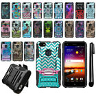 For ZTE Blade X Z965 Hybrid Duty Heavy Kickstand With Holster Case Cover + Pen