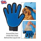 REAL TRUE TOUCH DESHEDDING GLOVE GENTLE AND PET DOG CAT MASSAGE GROOMING