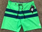 $55 BRAND NEW HURLEY PHANTOM BLACKBALL MENS GREEN BOARD SHORTS