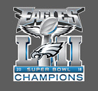Philadelphia Eagles Super Bowl LII 52 Champions Decal on eBay