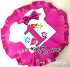 1st-7th Birthday Cute Birds Pink Girl Tutu Shirt Outfit Custom Age Year Party