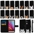 For Huawei Honor 5X Sensa 4G H710VL Cat Slim Canvas Wallet Case Cover + Pen