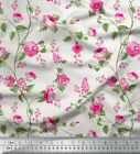 Soimoi 65 Gsm 44 Inches Wide Floral Printed Georgette Craft Fabric By The 1 Yard