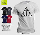 the death hallows - THE GIFTS OF DEATH DEATHLY-HALLOWS T-SHIRT TEE T-SHIRT HOGWARTS HARRY POTTER