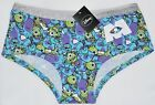 MONSTERS INC KNICKERS MIKE SULLEY DISNEY PANTIES WOMEN LADIES SIZES UK 6-20