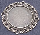 Bronze Round Charm Cabochon Base Cameo Settings Craft DIY  30x30mm Tray Fit 20mm