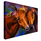 Two horse friends Canvas Print Crafted In London - Quality Assured