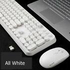 SADES Punk Retro Round Mute 2.4G Wireless Keyboard and Mouse Set Home Office Use