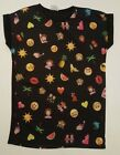 PRIMARK LADIES LONG MINI DRESS EMOJI SMILEY IPHONE T SHIRT TEE TOP UK 10 - 14