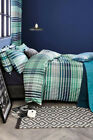 NEXT Bedding - Teal Check Bed Set, Double and King sizes