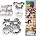 4/5/12 Metal Biscuit Star Cookie Cutters Cake Mould Sugarpaste Decorating Pastry