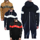 Mens Soulstar Chevron Zip Back Long Hooded Sweatshirt Fishtail Jacket Jumper ...