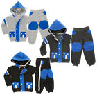 Baby Boys, Girls Racer Stripe Knee Panel Toddloers Hooded Babies Fleece Track...