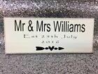 """Personalised Mr & Mr's Wedding Date, Shabby Chic, sign, plaque 10""""x4"""" p102"""