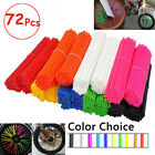 72Pcs Motocross roue moto cross enduro couvre cover skins spoke Couvre rayons