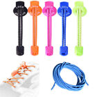 1Pair Elastic Lock Shoe Laces Shoelace String Fastening System Never Tie Trainer