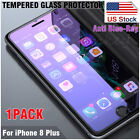 1pc/2pcs Anti Blue-Ray 2.5D Tempered Glass Screen Protector For iPhone 5/6/7/8/X