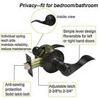 Oil Rubbed Bronze Door Lever Lock Handle Entry/Passage Privacy/Dummy Knobs <br/> 100% Solid Bolt; Latch assembly, Potation plate, Screws