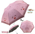 Cute Cartoon Ourdoor Windproof Mini Sun Rain Compact Travel Folding Umbrella