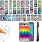 For Samsung Galaxy J3 Emerge J327 2017 Pineapple Clear Soft TPU Case Cover + Pen