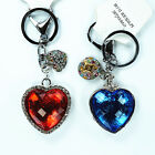 Fashion Cartoon Keychain Rhinestone Crystal Keyring Key Ring Charm Pendant