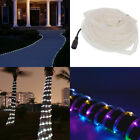 16ft White / Colorful Outdoor Walkway Light LED Rope Tube Waterproof Garden Path