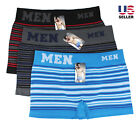 Lots 3-6 Mens Cotton Boxer Briefs Underwear Seamless Compres